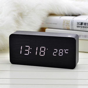 Rectangle LED Alarm Clock - Negative Space