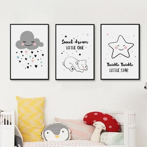 Simple Star Cloud Print - Negative Space