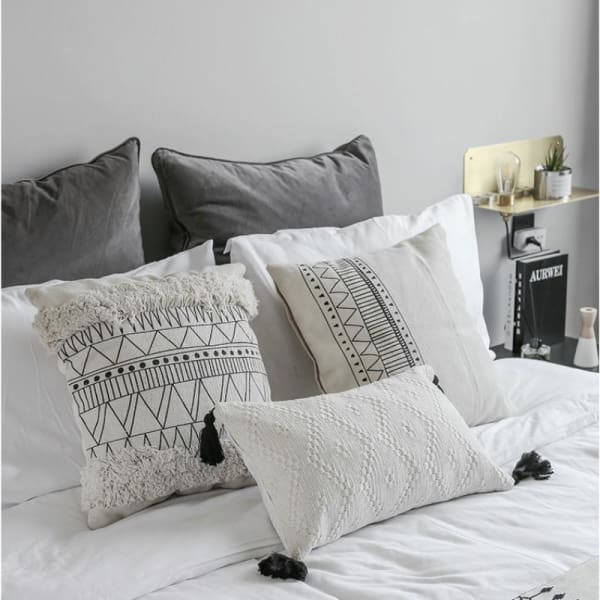 Woven Tassel Cushion Cover - Negative Space