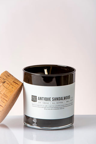 Antique Sandalwood Soy Glass Candle