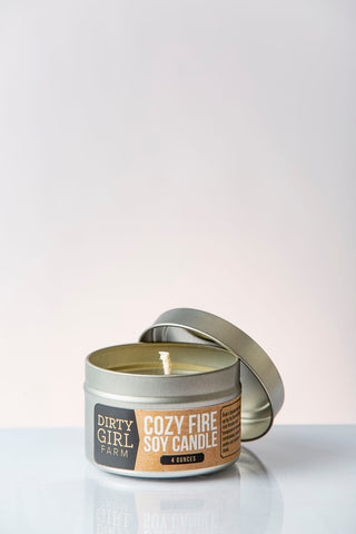 Dirty Girl Farm Cozy Fire Soy Candle
