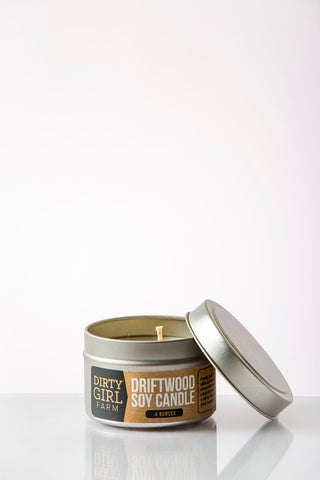 Dirty Girl Farm Driftwood Soy Candle