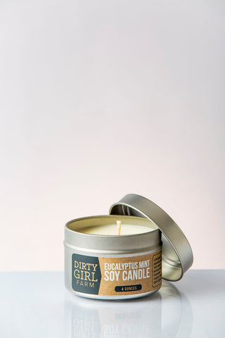 Dirty Girl Farm Eucalyptus Mint Soy Candle