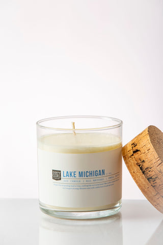 Dirty Girl Farm Lake Michigan Soy Glass Candle