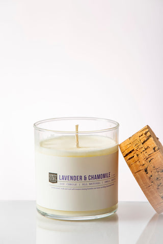 Dirty Girl Farm Lavender & Chamomile Soy Glass Candle