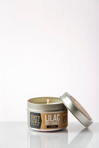 Dirty Girl Farm Lilac Soy Candle