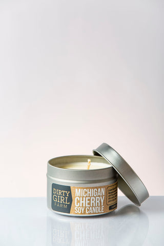 Dirty Girl Farm Michigan Cherry Soy Candle