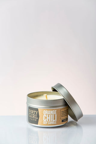 Dirty Girl Farm Orange Chili Soy Candle