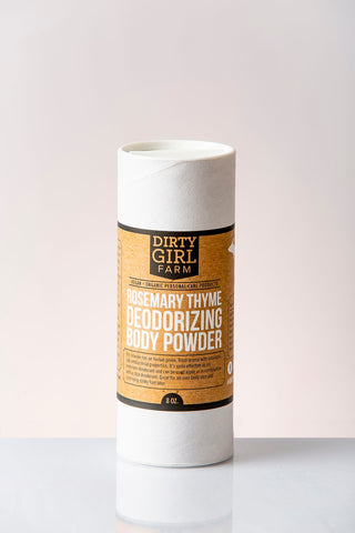 Dirty Girl Farm Rosemary Thyme Powder Deodorizing Body Powder