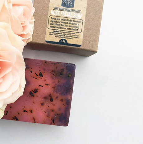 Dirty Girl Farm Rose Facial Soap