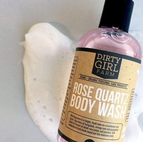 Dirty Girl Farm Rose Quartz Body Wash