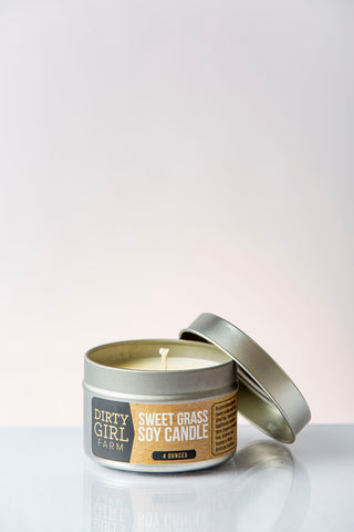 Dirty Girl Farm Sweet Grass Soy Candle