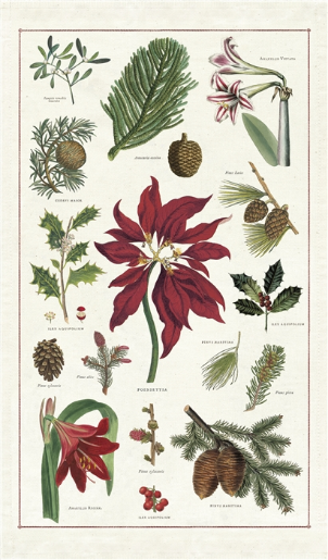 Christmas Botanical Tea Towel