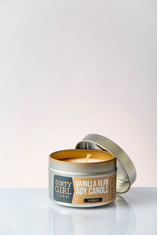 Dirty Girl Farm Vanilla Bean Soy Candle