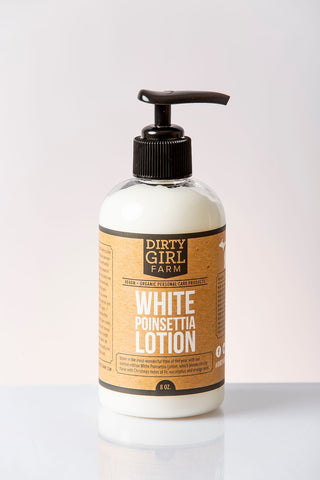 Dirty Girl Farm White Poinsettia Lotion
