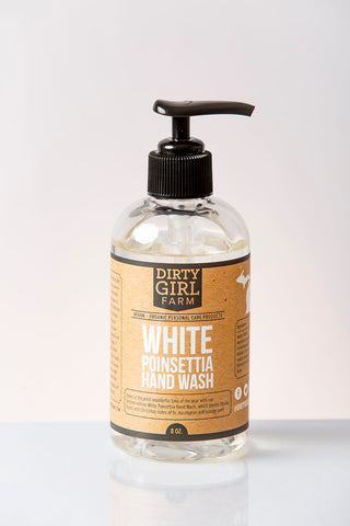 Dirty Girl Farm White Poinsettia Hand Wash