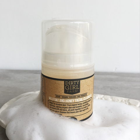 Dirty Girl Farm Wild Oat and Honey Facial Cleanser