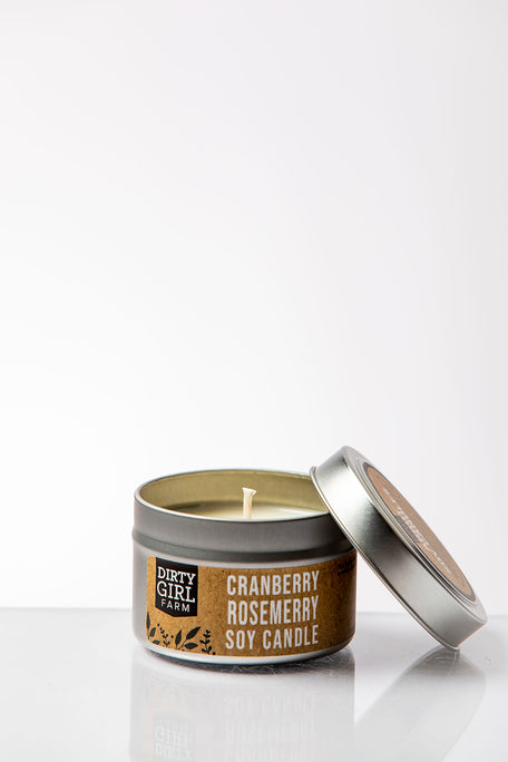 Cranberry and Rosemary Soy Candle