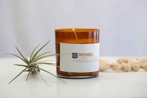 Patchouli Glass Soy Candle