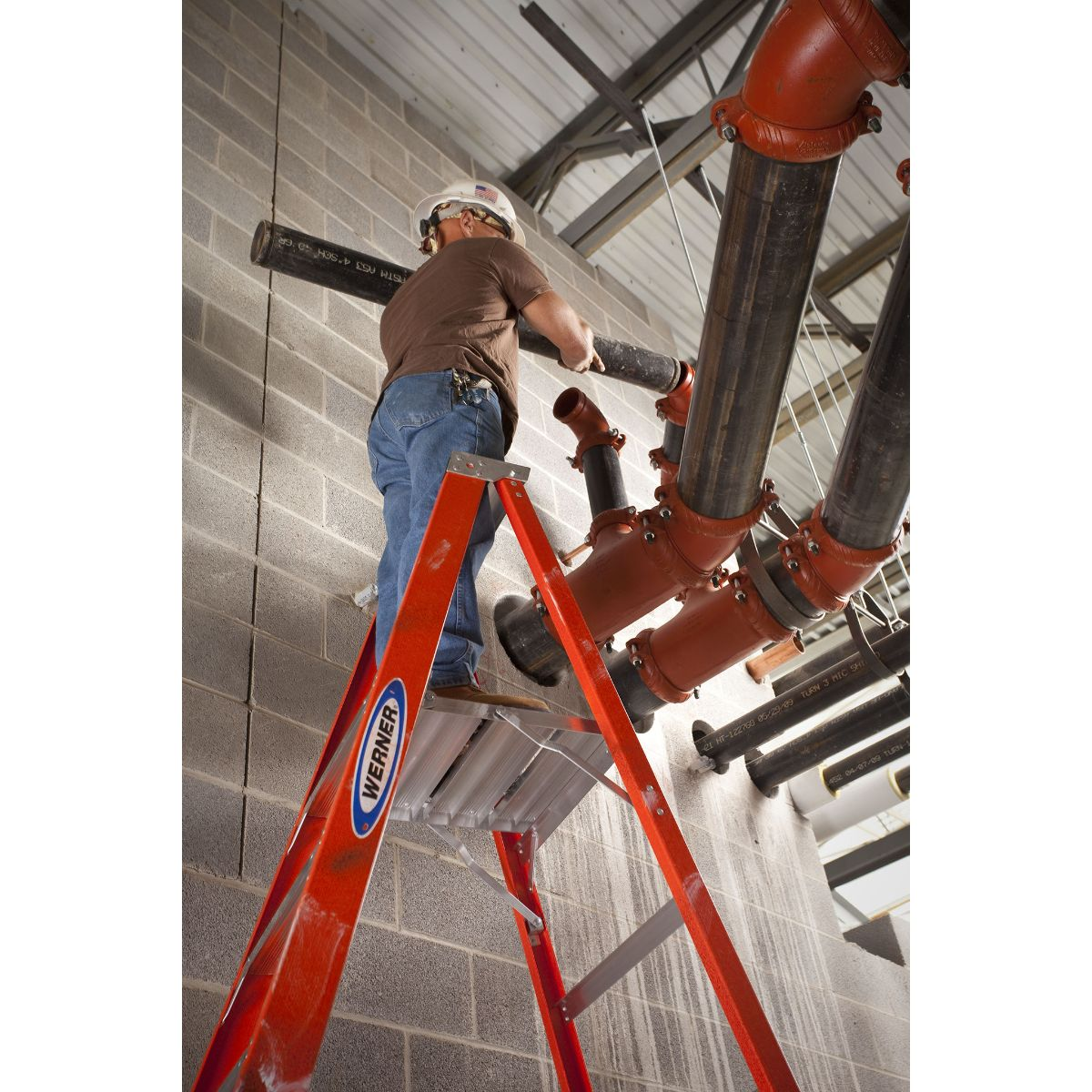 WERNER P6206 6 ft Type IA Fiberglass Platform Ladder – Admiral Safety