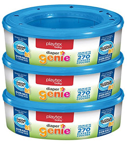 Playtex Diaper Genie Refills for Diaper Genie Diaper Pails - 270 Count (Pack of 3): Health & Personal Care
