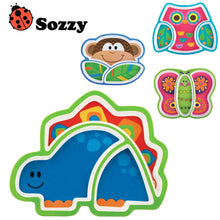 1pcs Sozzy Creative Children's Plate Cartoon Animal Service Plate Appetizer Platter Cute Dishes Baby Sub-grid Eat Tray - Babypalaces