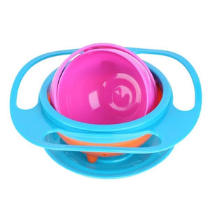 Universal Baby Novelty 360 Degree Rotary Gyro Umbrella Bowl Practical Spill-Proof Children Kids Tableware Feeding Balance Bowl