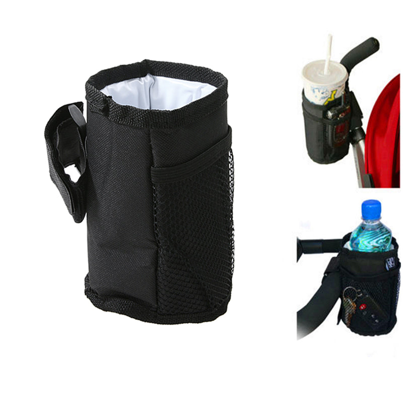 Baby Stroller Bottle Cup Holder Bag Stroller Pushchair Pram Wheelchairs Drink Cup Milk Bottle Mug Holder Bags Stroller Accessory