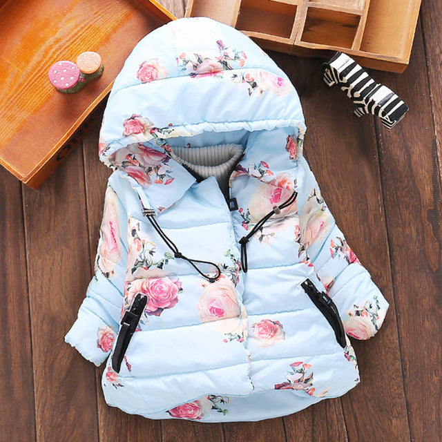 Baby Girls Jacket Winter Jacket For Girls Coat Warm Hooded Outerwear Coat For Girls Parkas Clothes Children Jacket - Babypalaces