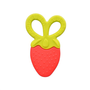 Baby Teether Soft Silicone Teething Toys for Babies Strawberry Shaped (Red) - Babypalaces