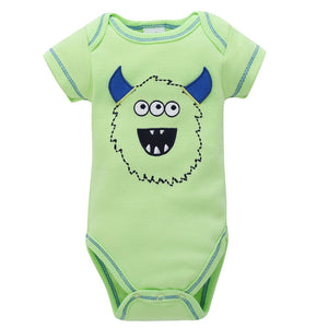 Newborn Kids Baby Boys Girls Cartoon Printing Romper Jumpsuit Outfits Clothes