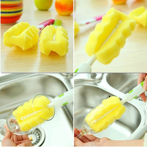 Removable Replacement Head Sponge Cup Brush for Baby Bottle