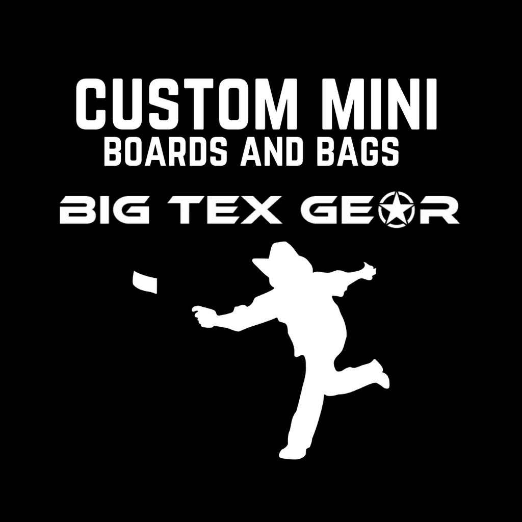 Custom Mini Cornhole Boards and Bags