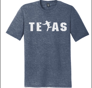 Texas - Heather Blue Cotton Shirt