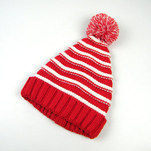 Striped Knit Beanie - Awful Hats