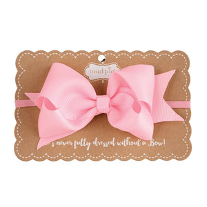 Light Pink Bow Headband