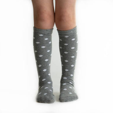 Gray Dot Knee High Socks
