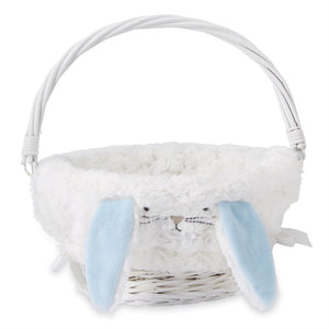 Bunny Ear Wicker Basket