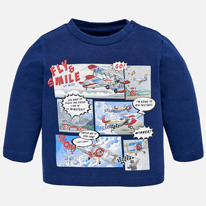Fly & Smile Print Long Sleeve Tee