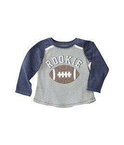 Rookie Long Sleeve Football Tee
