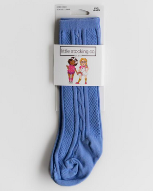 Cornflower Knee High Socks