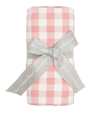 Gingham Pink Swaddle Blanket