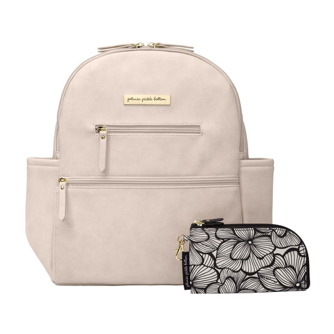Ace Diaper Bag in Ivory Matte Leatherette