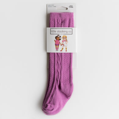 Orchid Knee High Socks