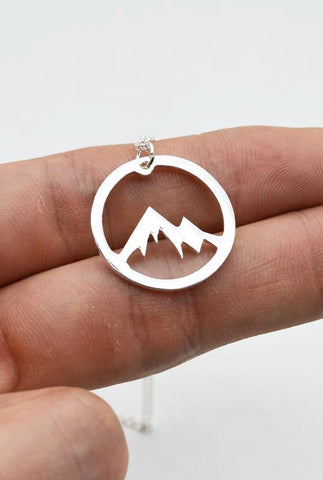 Courage Mountain Pendant Necklace