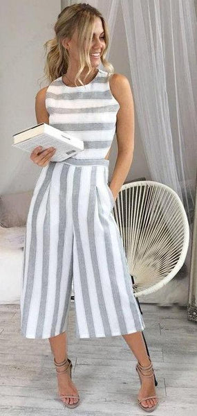 Striped Jumpsuit Romper