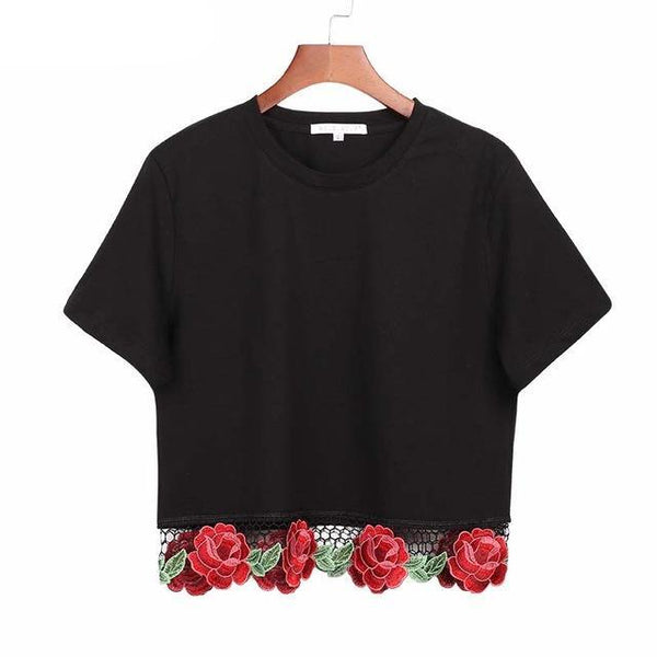 Rose Crop T-Shirt