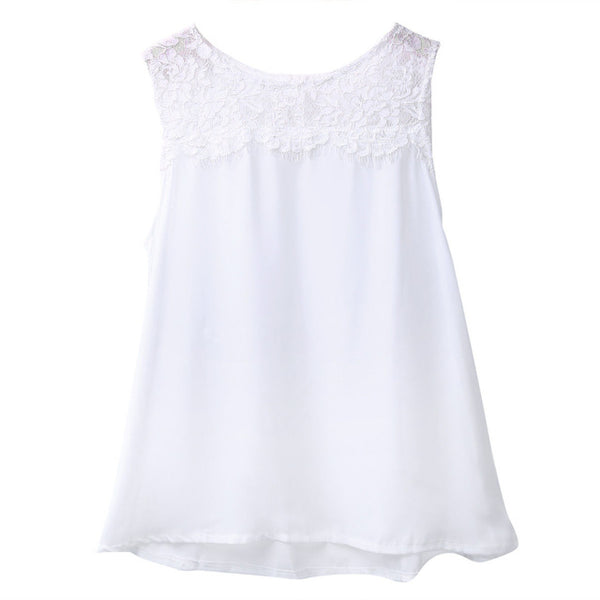 Loose Lace Vest T-Shirt