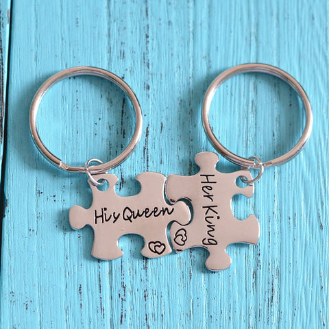 "FREE - ""Her King"" & ""His Queen"" Keychain"