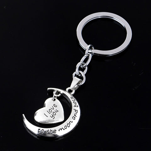 """FREE"" I Love You To The Moon And Back Keychain"